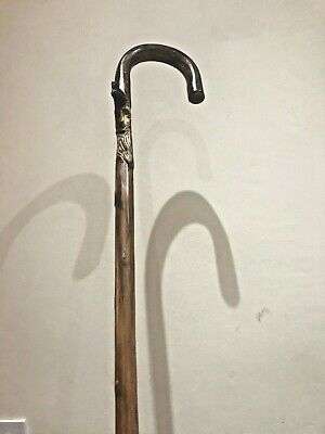 hand made bamboo wooden walking stick is very good condition