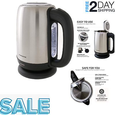 C2EA Practical 2L Home Electric Kettle Water Kettle Stainless Steel Boiler