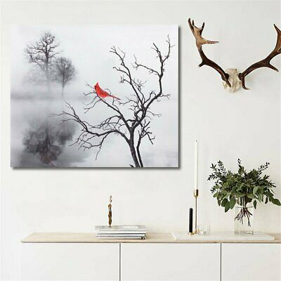 Red Bird Tree Canvas Print Painting Modern Home Wall Picture Art Decor  New CA