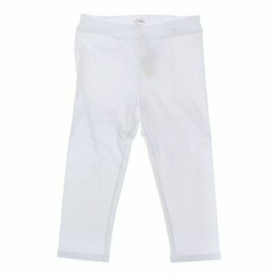 Justice Girls Capri Pants size 16,  white,  cotton, spandex,  new with tags