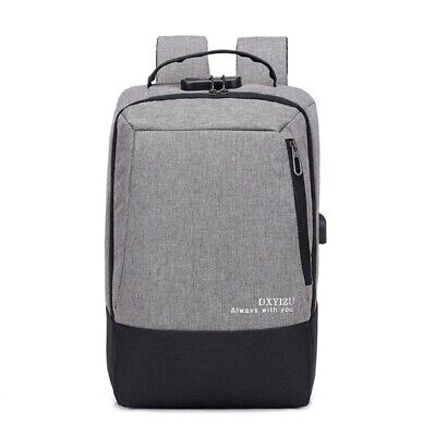 15.6Inch Anti Theft Laptop Backpack Security Lock Oxford Usb Charge Large B K5L9