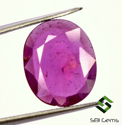 4.60 Cts Natural Ruby Oval Flatish Cut 13.50x11 mm Reddish Loose Gemstone GF