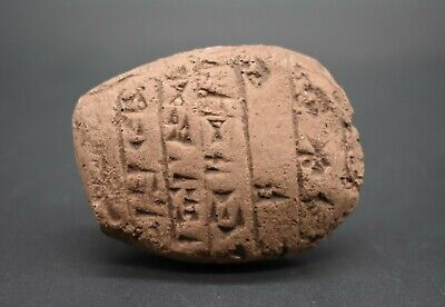 Ancient Hittite style inscribed tablet & seal - Terms of Egyptian surrender