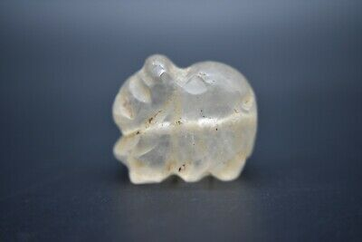 Antique rock crystal/quartz animal pendant