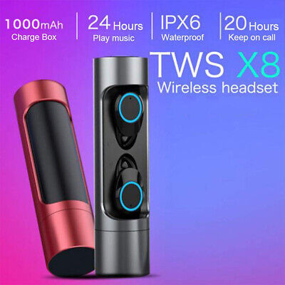 X8 Mini Bluetooth Headset TWS LED Wireless Earphones In-Ear Earbuds Headphones K