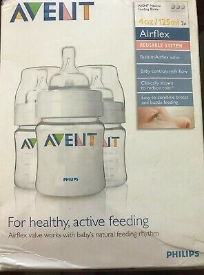 Philips AVENT BPA Free Classic Polypropylene Bottle  4 Ounce Oz -3 Pack