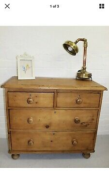 Small Victorian Antique Pine Chest Of Drawers