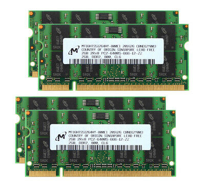 For Elpida 2GB PC2-6400 DDR2 800MHz 200Pin SODIMM Laptop Memory 125 RL1US
