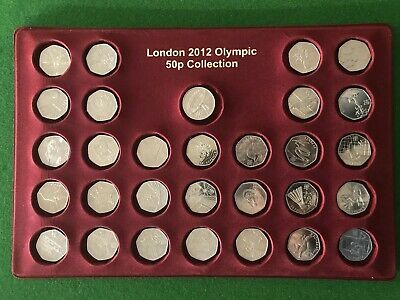 Full Set of 30 London Olympic 2012 50p Coin & Completer Medallion Grab A Bargain