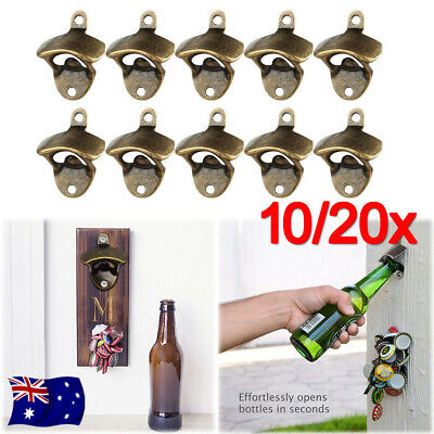 10/20 Rustic Style Cast Iron Wall Mounted Bottle Opener Cave Bar Beer Tool Top