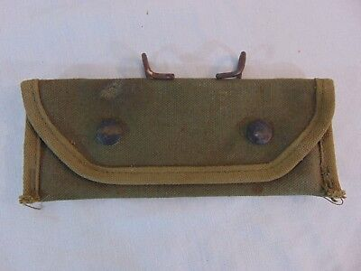 1945 WWII US Army M1 Grenade Launcher Sight Canvas Carrying Case Bearse 7160198