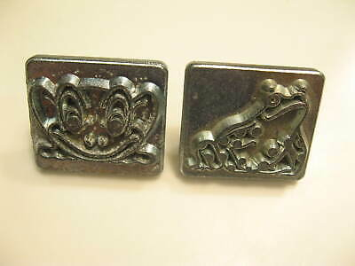 Vintage Craftool SMILING & Spotted FROG STAMPS 8215 & 8223 Leather Crafting Tool