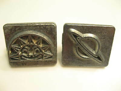 Vintage Craftool SMILING SUN & SATURN STAMPS 8212 & 8239 Leather Crafting Tool