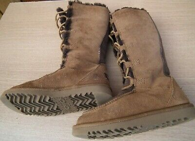 Girls Size 13 Knee High Brown Suede Boots