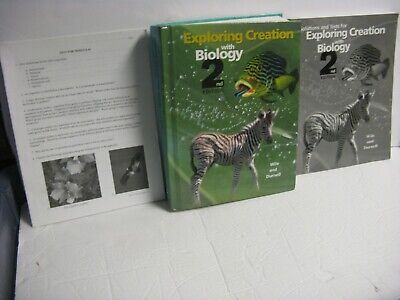 3 pc. APOLOGIA EXPLORING CREATION WITH BIOLOGY-2ND ED. TEXTBOOK,SOLUTIONS,TESTS