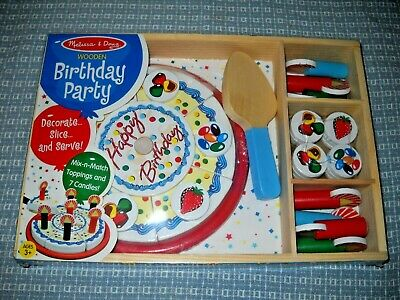 Admirable Melissa Doug Birthday Party Pretend Play Cake Wooden Food With Funny Birthday Cards Online Alyptdamsfinfo