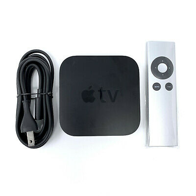 Apple TV 3rd Generation A1427 HD 1080p Streamer & Universal Remote & Power Cord