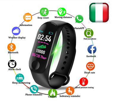 Fitness Smartwatch Orologio Cardiofrequenzimetro Smartband M3 Sport  Ios Android