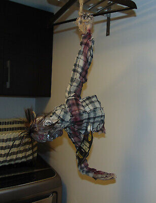"""Halloween CrEePy 31"""" Animated Moaning Hanging Zombie Ghoul Torso BN Watch Video"""