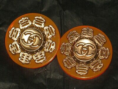 Chanel 2 Cc  Neon Orange  22Mm Buttons This Is For Two