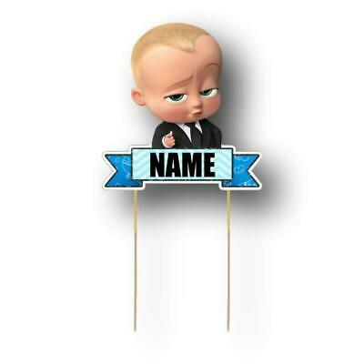 Boss Baby Cake Topper Personalised Kids Party Decoration Image Cut Card