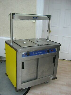 Victor Consort Mobile Bain Marie and Hot Cupboard On Castors great working cond