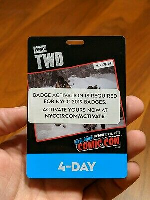 New York Comic Con 4 Day Pass Thu-Sun NYCC 2019 Javits NYC Badge Ticket SOLD OUT