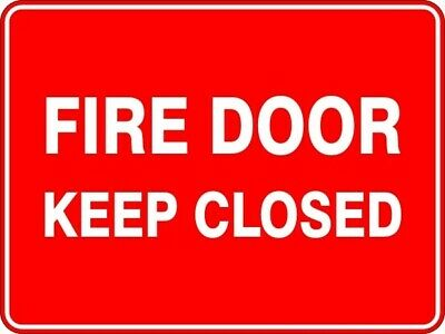 Fire Door Keep Closed - Self Adhesive Sticker / Decal / Sign | Health & Safety