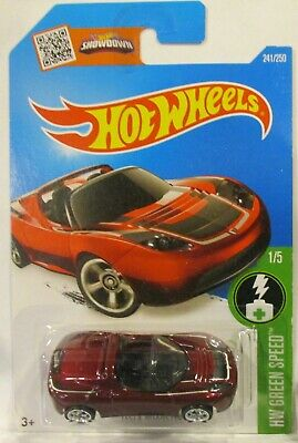 2016 Hot Wheels Super Treasure Hunt Tesla Roadster Real Riders Free Case
