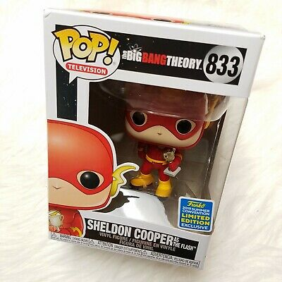Funko POP Big Bang Theory #833 Sheldon Cooper as The Flash SDCC 2019 Exclusive