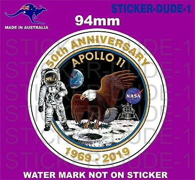 APOLLO 11 50th ANNIVERSARY MOON LANDING STICKER