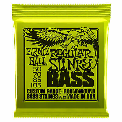 ERNIE BALL 2832 ROUNDWOUND Bass Guitar 4 String Set 50-105 Regular Slinky