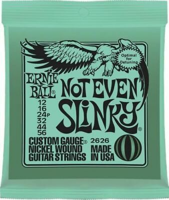 ERNIE BALL 2626 NOT EVEN SLINKY NICKEL WOUND Electric Guitar String Set 12/56 Te