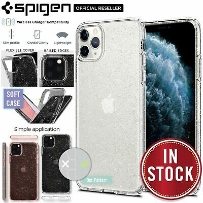 iPhone 11/Pro/Max Case, Genuine SPIGEN Liquid Crystal Glitter Cover for Apple