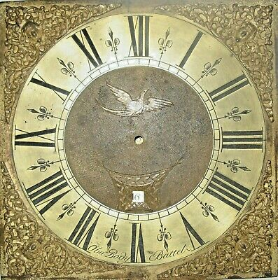 A Very Good Early 18th Century Brass Dial - Obadiah Body of Battle