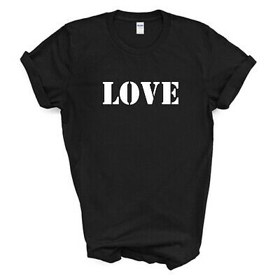 Love T-Shirt, Inspirational, Black/White T-Shirt, Kids Ladies Mens