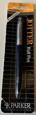 Vintage 1980's New Old Stock Parker Jotter Ball Pen Navy Blue USA Made NOS