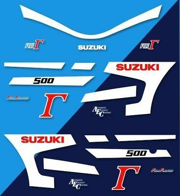 SUZUKI RG500 - Kit carrosserie Sticker decals - RG 500 GAMMA 87-89