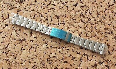 Stainless Steel Solid Link Watch Strap 20mm Curved Ends