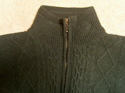 Mens Irish Wool Fleece Cableknit Sweater Classic Vintage Outdoors Size Small S