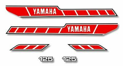 YAMAHA RD 125 - Kit carrosserie  Sticker decals - RD125 1978 blanc