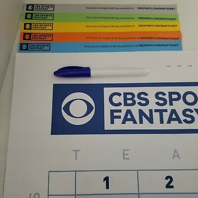 2019 CBS Sports Fantasy Football Draft Board Kit Brand New opened