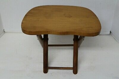 Vintage Nevco Foldn Carry Stool - Milking, Camping, Foot Stool, Plant Stand ++++
