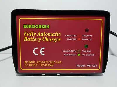 EUROGREEN Fully Automatic Batterie Charger Model: MB-12/4