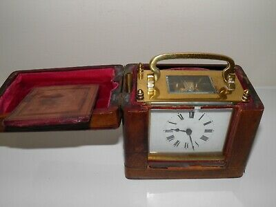 19Th Century Miniature Carraige Clock