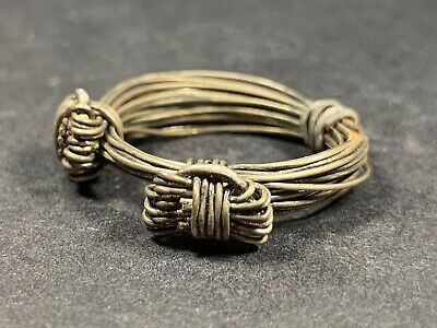 Rare Ancient Celtic Silver Detailed Wire Ring - Very Beautiful Circa 1000-800Bce