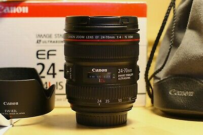 Canon EF 24-70mm f/4 L IS USM Lens + Hoya Filter - Great Condition with Box