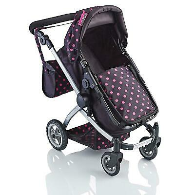 New Girls 2 In 1 Doll Stroller Buggy Babies Dolls Deluxe Pushchair Toy Pram Gift