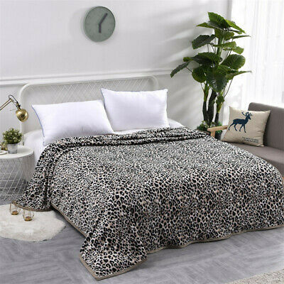 Blanket Plush Thickened Large Coral Fleece Printed Warm Blanket Travel Throw New