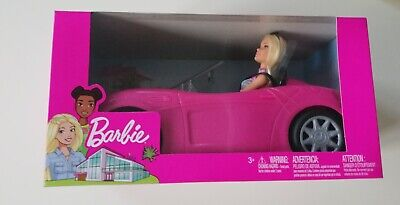 Barbie Convertible Car And Doll Set BNIB New In Box Sealed Free Post Xmas Gift